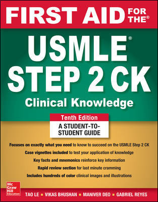 First Aid for the USMLE Step 2 CK, 10th ed.- Clinical Knowledge